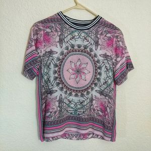 XS Hale Bob Alberta Silk Top NWOT Pink